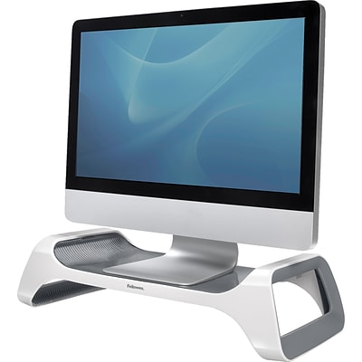 Fellowes I-Spire Series Monitor Stand, White/Gray (9311101)