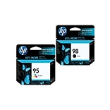 HP 98 Black & 95 Tri-Color Ink Cartridges, 2-Pack (CB327FN)