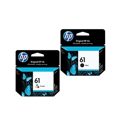 HP 61 Black and Color Ink Cartridge, Standard, 2-Pack