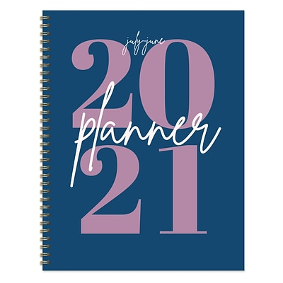 2020-2021 TF Publishing 8.5 x 11 Planner, Feminine Series Big Blue Year, Multicolor (21-9711A)