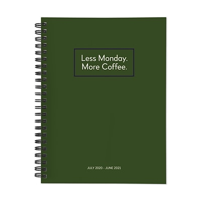 2020-2021 TF Publishing 6.5 x 8 Planner, Kraft Series, Less Monday More Coffee (21-9265A)
