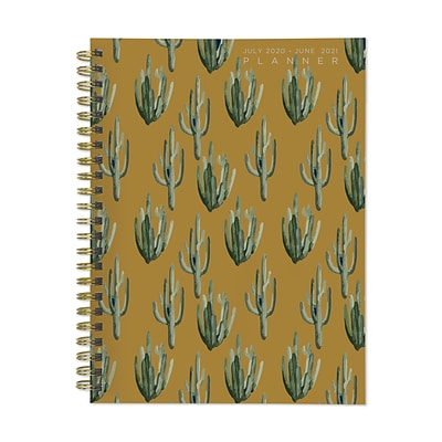 2020-2021 TF Publishing 6.5 x 8 Planner, Classic Series Mustard Cactus, Multicolor (21-9042A)