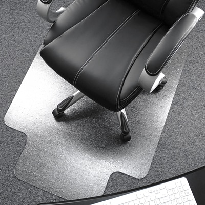 Floortex® Ultimat® 48 x 53 Rectangular with Lip Chair Mat for Carpets over 1/2, Polycarbonate (1113427LR)