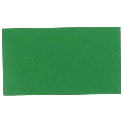 JAM Paper Smooth Personal Notecards, Green, 500/Box (11756575C)