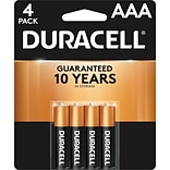 Duracell Coppertop AAA Alkaline Batteries, 4/Pack (MN2400B4Z)