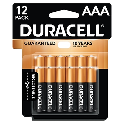 Duracell Coppertop AAA Alkaline Batteries, 12/Pack (MN24RT12Z)