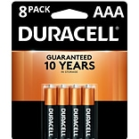 Duracell Coppertop Alkaline Batteries, AAA, 8/Pack (MN2400B8Z)