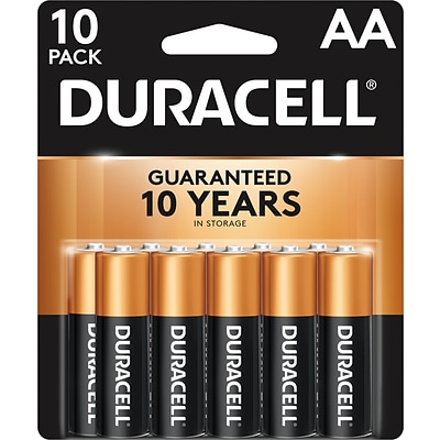 Duracell Coppertop AA Alkaline Batteries, 10/Pack (MN1500B10Z)
