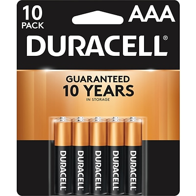 Duracell Coppertop AAA Alkaline Batteries, 10/Pack (MN2400B10Z)