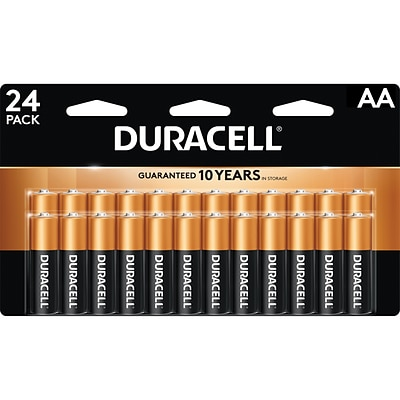 Duracell Coppertop AA, Alkaline Batteries, 24/Pack (MN1500B240001)