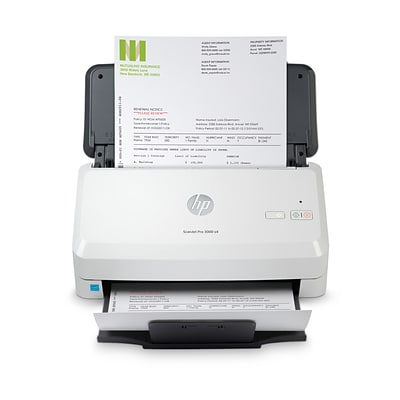 HP Scanjet Pro 3000 s4 Duplex Desktop Document Scanner, White (6FW07A#BGJ)