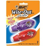BIC Wite-Out Mini Correction Tape, White, 2/Pack (50754)