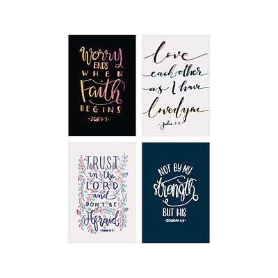 Better Office Religious Cards with Envelopes, 6 x 4, Assorted Colors, 100/Pack (64550)