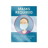 ComplyRight Window Cling, Mask Required, 10 x 14, Blue/White (N0133)