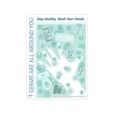 ComplyRight Personal Protection Poster, Blue/White (N0112)