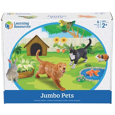 Learning Resources Jumbo Pets, Set of 6 (LER0688)