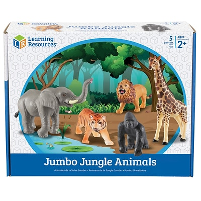 Learning Resources Jumbo Jungle Animals, Set of 5 (LER0693)