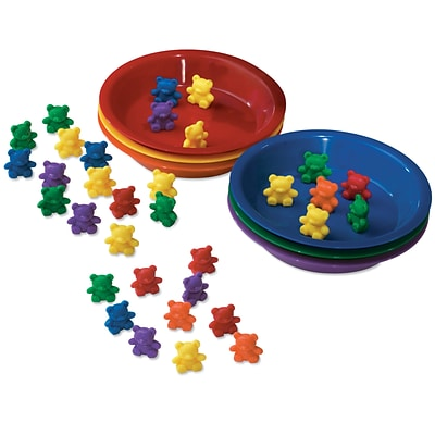 Learning Resources Baby Bear Sorting Set, 102 Bears, 6 Bowls (LER0739)