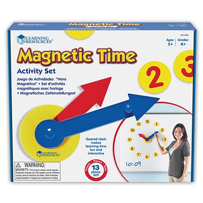 Learning Resources Magnetic Time Activity Set (LER2984)