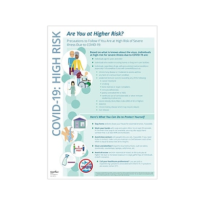 ComplyRight Safety Awareness Poster, Blue/White (N0116)