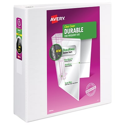 Avery Durable Standard 3 3-Ring View Binder, White (17042)