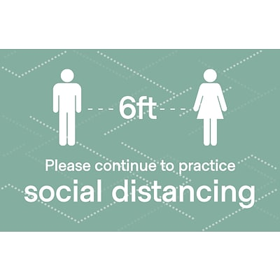 4 X SOCIAL DISTANCING STICKERS VETS VETERINARIAN 2 METRES APART 3 X FREE POSTERS