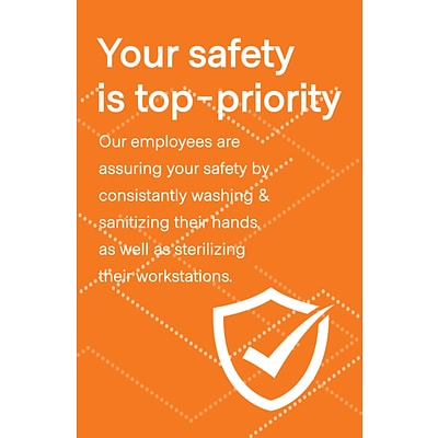 Deluxe Employee Safety Poster, 18 x 24, Orange, 6/Pack (ESPOST1824)
