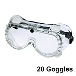 Safety Goggles, Clear Lens, 20/Box (SG204)