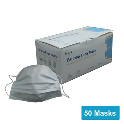 Disposable Earloop Face Mask, 50/Box (FM-34EE)