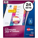 Avery Ready Index Numeric Divider, 8-Tab, Multicolor (11168)
