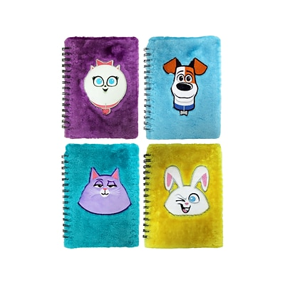 Inkology Secret Life Of Pets 2 Plush Journal, 7 x 9, Assorted Colors (329-8)