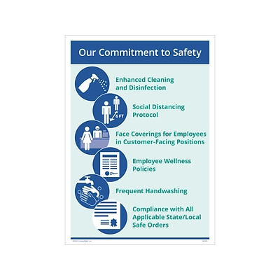 ComplyRight Poster, Our Commitment to Safety, 10 x 14, Blue (N0267PK1)