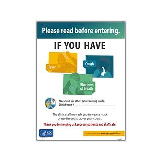 National Marker Poster, Please Read Before Entering, 24 x 18, Multicolor (PST143)