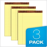 TOPS The Legal Pad Writing Pads, 8-1/2 x 11-3/4, Legal Ruled, Canary, 50 Sheets/Pad, 3 Pads/Pack (