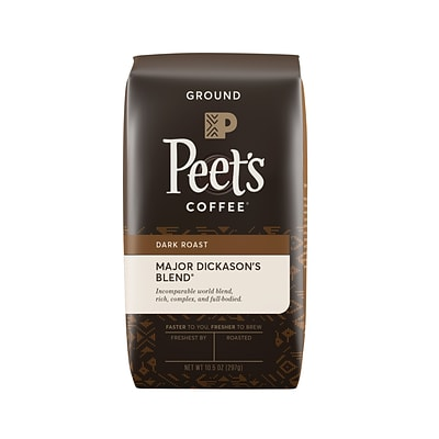 Peets Coffee Major Dickasons Blend Ground Coffee, Dark Roast, 10.5 oz. (836261)