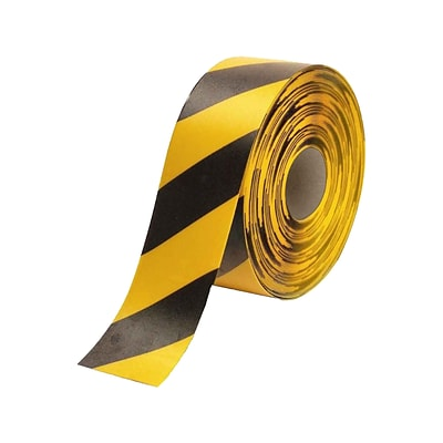 National Marker Caution Tape, 4 x 33.33 Yds., Black/Yellow (HDT4BKYL)