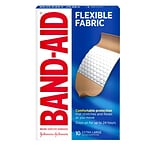 Band-Aid Brand Flexible Fabric Adhesive Bandages, Extra Large, 10/Box (802137)