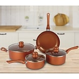 Brentwood Cookware Aluminum 7-Piece Non-Stick Cookware Set, Copper (BPS-107C)