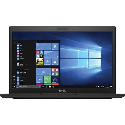 Dell™ Latitude 4HCNK 7480 14 Laptop, Touch-Screen LCD, Core i5-7300U, 256GB SSD, 8GB RAM, WIN 10 Pro, Black