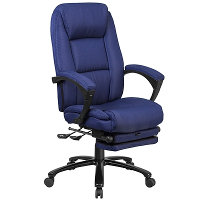 Flash Furniture High Back Fabric Executive Reclining Swivel Office Chair with Comfort Coil Seat Springs (BT90288HNY)