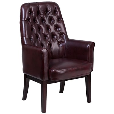 Flash Furniture High Back Traditional Tufted Leather Side Reception Chair (BT444SDBY)