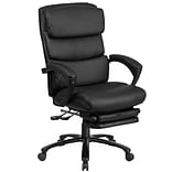 Flash Furniture High Back Leather Executive Reclining Swivel Chair with Comfort Coil Seat Springs an