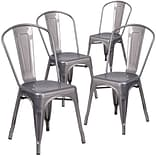 Flash Furniture Metal Indoor Stackable Chair 4/ Pack (4XUDGTP001)