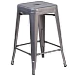 Flash Furniture 24 High Backless Metal Indoor Barstool with Square Seat (XUDGTP000424)