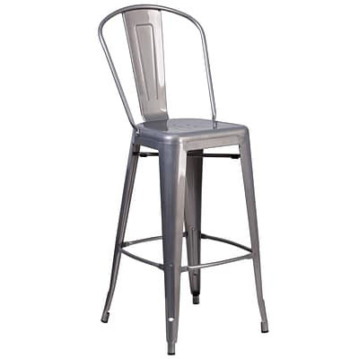 Flash Furniture 30 High Indoor Counter Height Stool with Back (XUDGTP001B30)