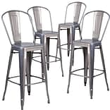 Flash Furniture 30 High Indoor Counter Height Stool with Back 4/ Pack(4XUDGTP001B30)
