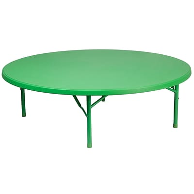 Flash Furniture 60 Round Kids Plastic Folding Table (RB60RKIDGN)