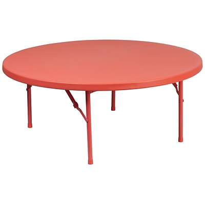 Flash Furniture 48 Round Kids Plastic Folding Table (RB48RKIDRD)