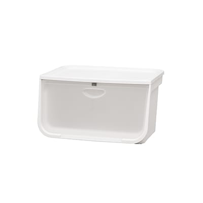 IRIS®49 Quart Large Flap Box, White and Clear