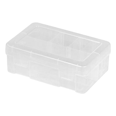 IRIS® Mini Divided Case, Clear, 5 Pack